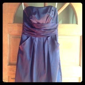 David's Bridal Plum Dress